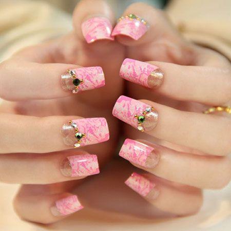 Unghii De Nunta French Modele De Unghii în 2019 Pink Nail Art