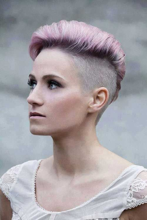Dark Colored Punk Short Hair