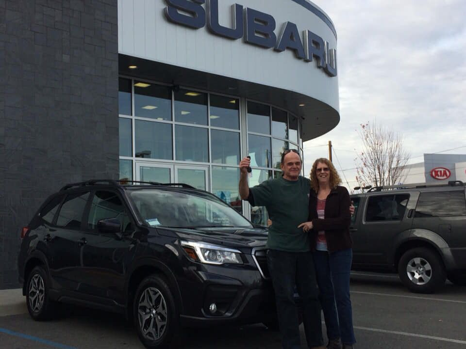 Congratulations Kevin and Cella on your 2019 Forester