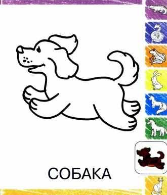 раскраска малышам Собака распечатать или скачать (с ...