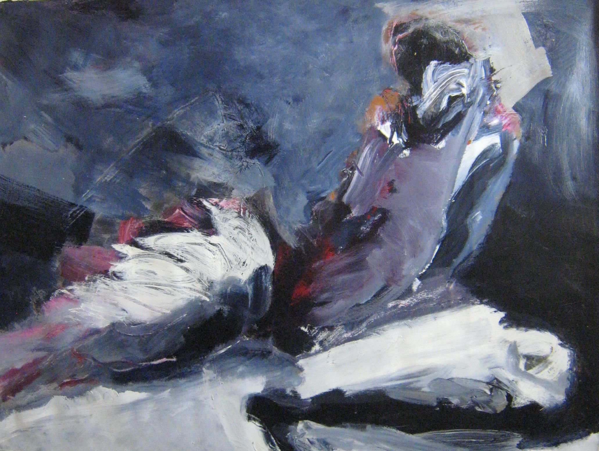 "Relaxation, 45x35"" by Laetitia Bonnici. Purchase from VM Concept in Scottsdale, AZ."