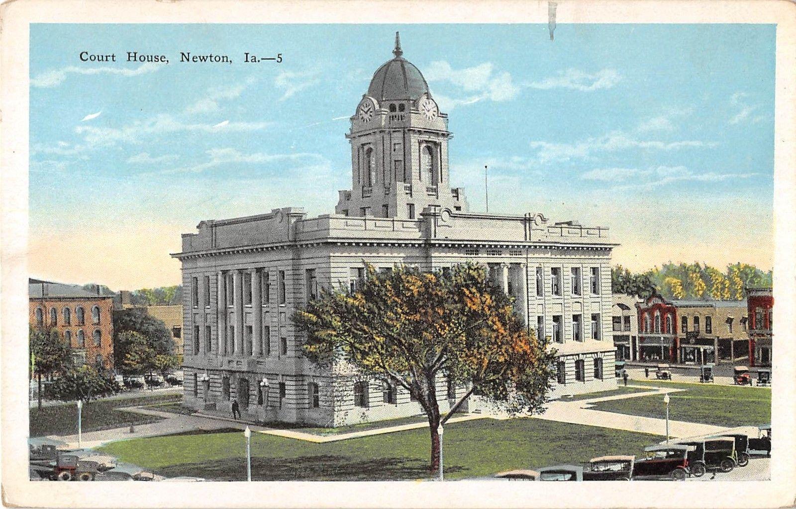 Newton Iowa Court House General View Antique Postcard V5725 Ebay