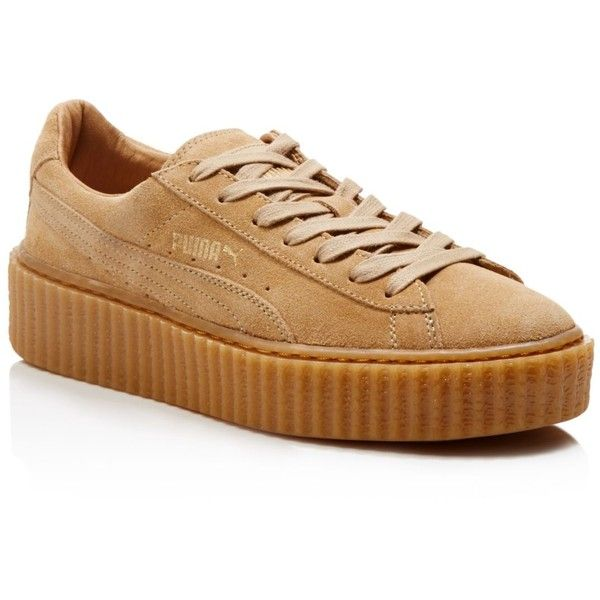 hot sale online 38874 637c5 Puma by Rihanna Suede Creepers ($120) ❤ liked on Polyvore ...