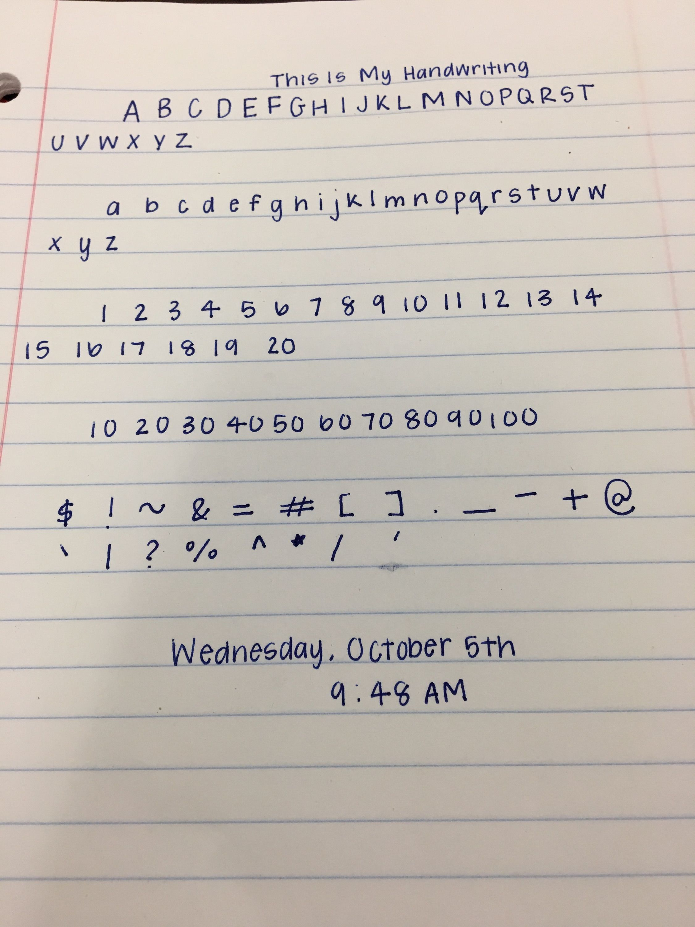 My Friend S Handwriting From Earlier Today