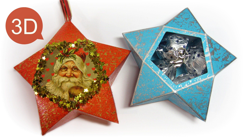 Adornos de navidad c mo hacer estrellas de papel y para hacer regalos gustamonton - Adornos navidad de papel ...