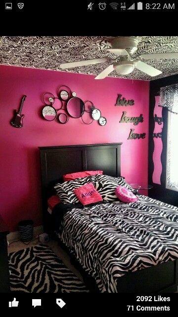 Daughters Room Age Zebra Print Bedroom Designs