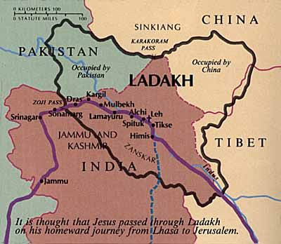The Lost Years Of Jesus Map India Facts