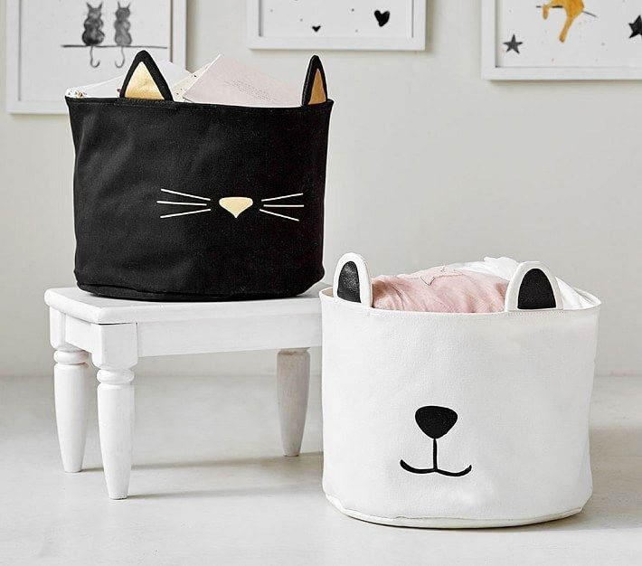 Big Nosed Cotton Canvas Storage Bins That Will Easily Turn
