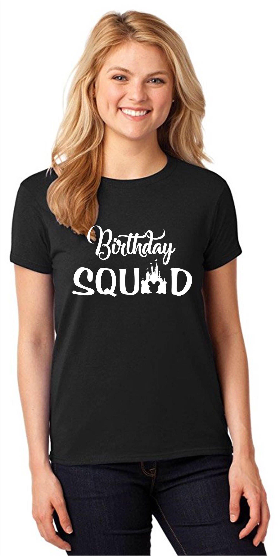 Disney Birthday Squad Shirts Family Matching