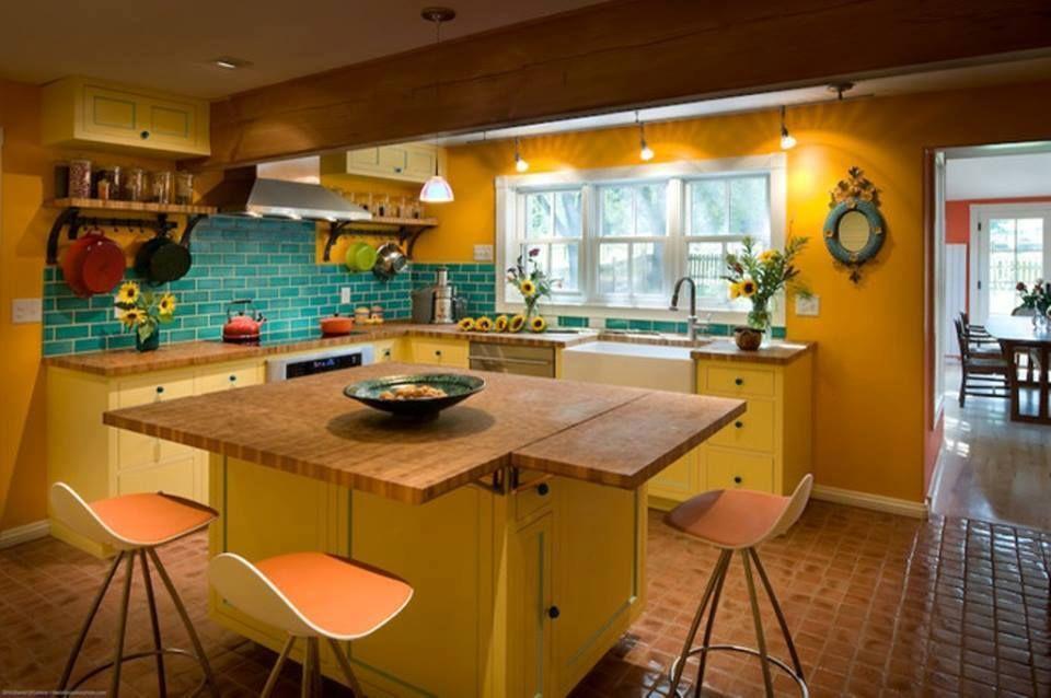 14 Inspirasi Cat Dapur Rumah Dengan Menggunakan Warna Cerah | Desain ...