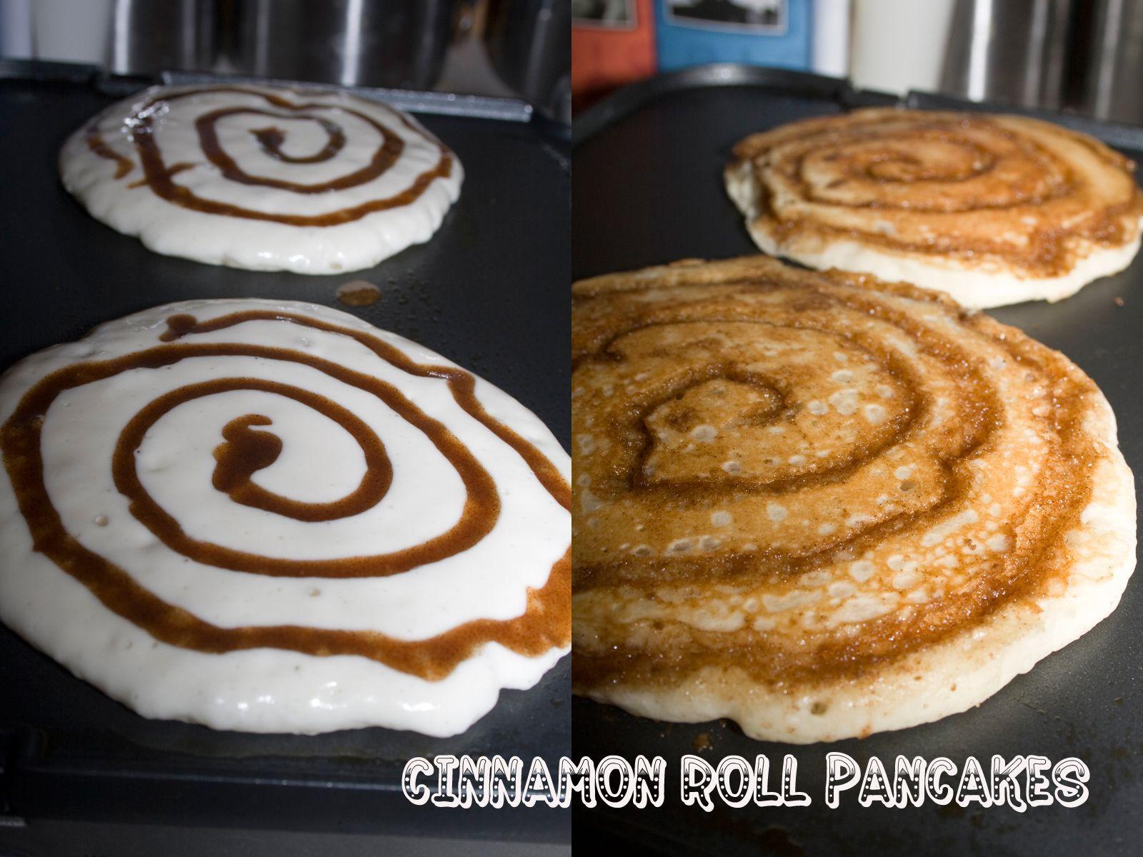 OMG!!!!!Cinnamon Roll Pancakes