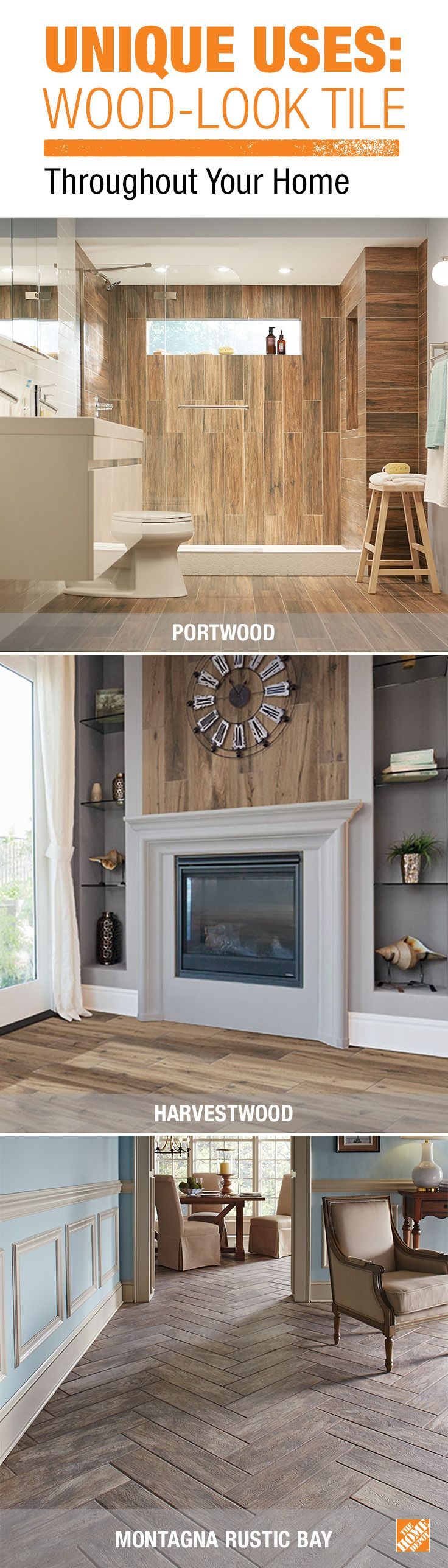 Get the look of natural wood but with the advantages of porcelain
