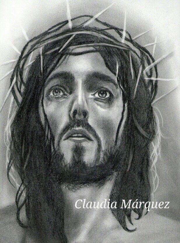 Retrato De Jesucristo Al Lapiz Male Sketch Jesus Fictional Characters