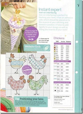 chickens cross stitch pattern