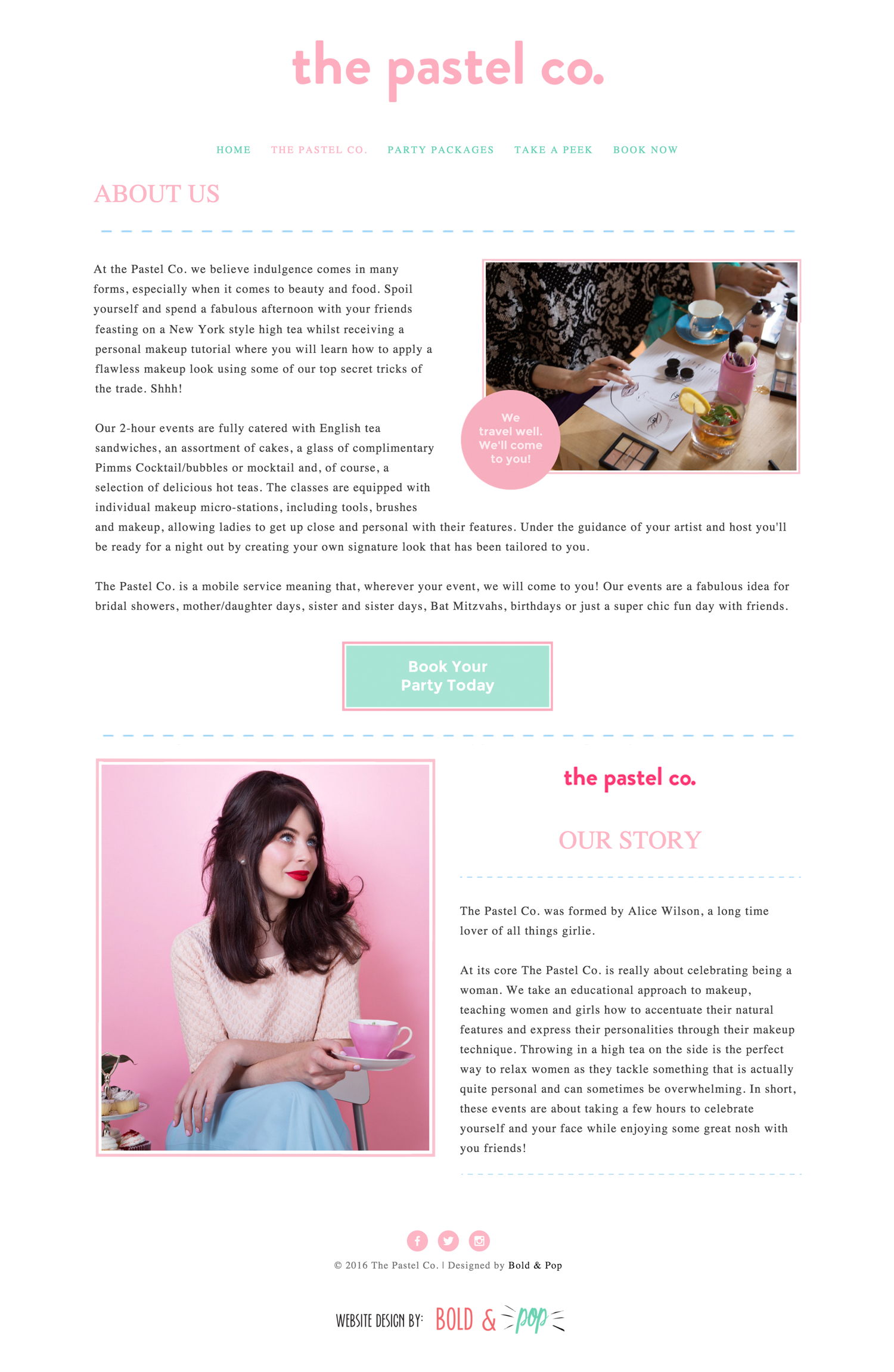 The Pastel Co Website Design Website Designs And Website