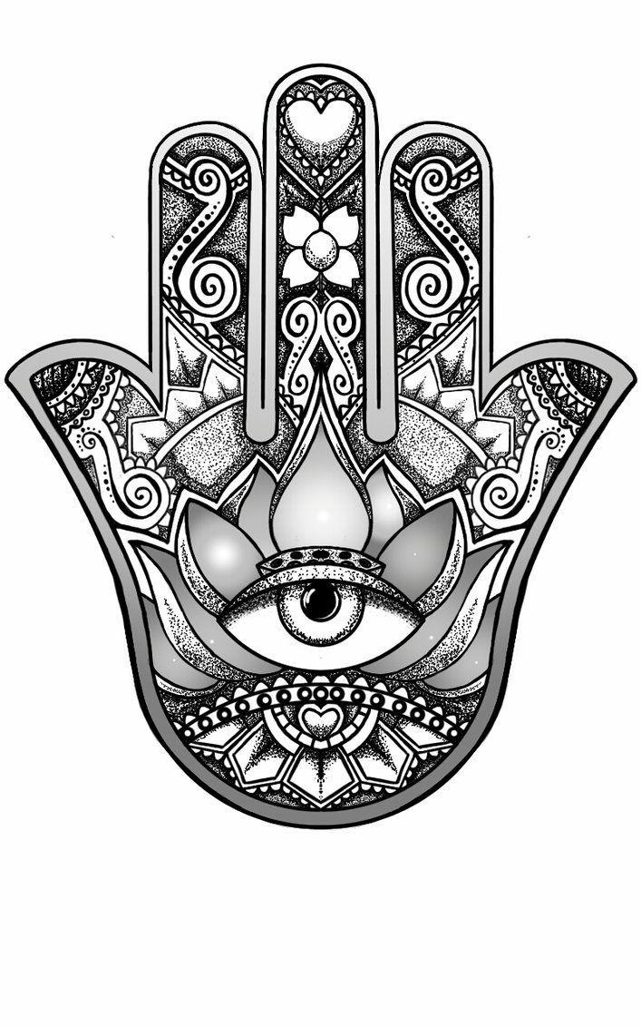 Resultado de imagen de hamsa with lotus mandales pinterest compass tattoo biocorpaavc Choice Image