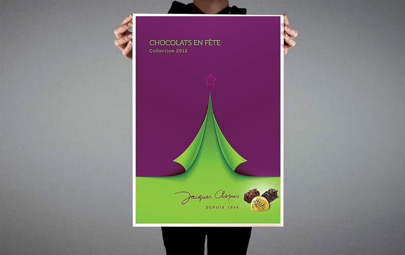 Création de la brochure Chocolat 2012 des Cafés Chapuis.