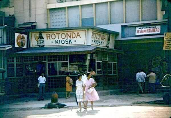 Rotonda Kiosk Angeles City Pampanga 1961 Now Showing Walang