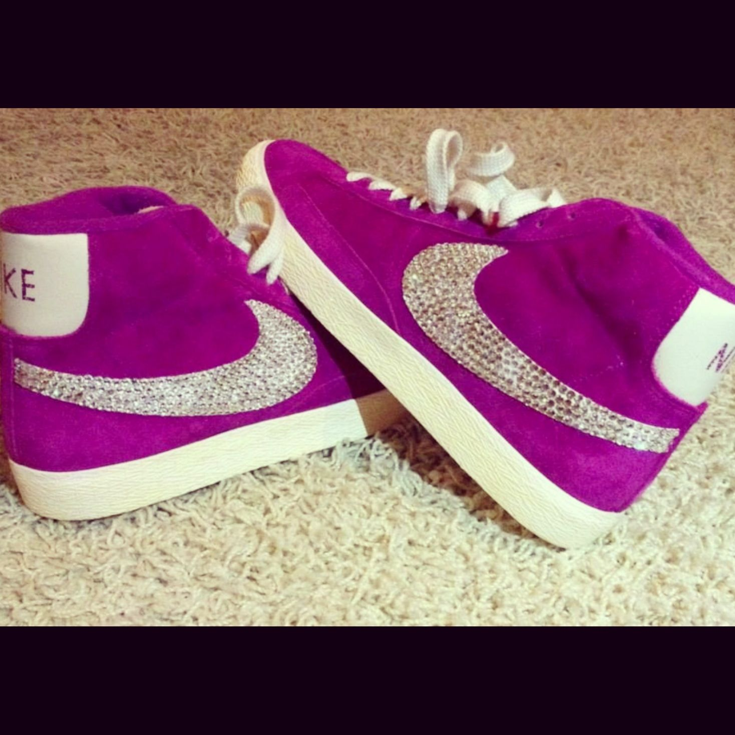 Customised Swarovski nike blazer  90b74d2175a