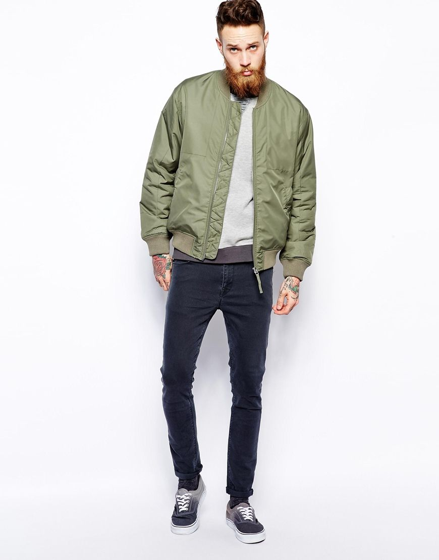 Bomber jacket green mens