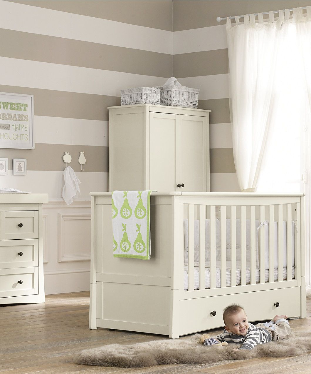 Mothercare Harrogate Cot Bed - Almond  Baby cot bedding, Nursery
