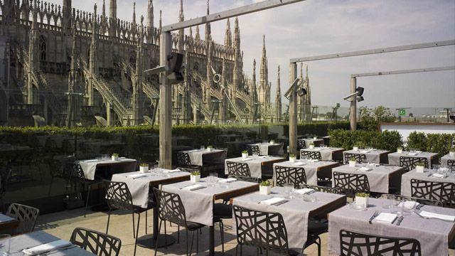 Rooftop Bar La Rinacente In Milano Interesting Italy