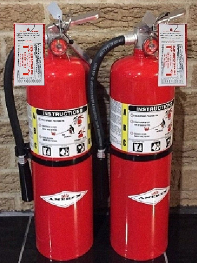 Lot of 2 Amerex 10 Lb  Type ABC Dry Chemical Fire