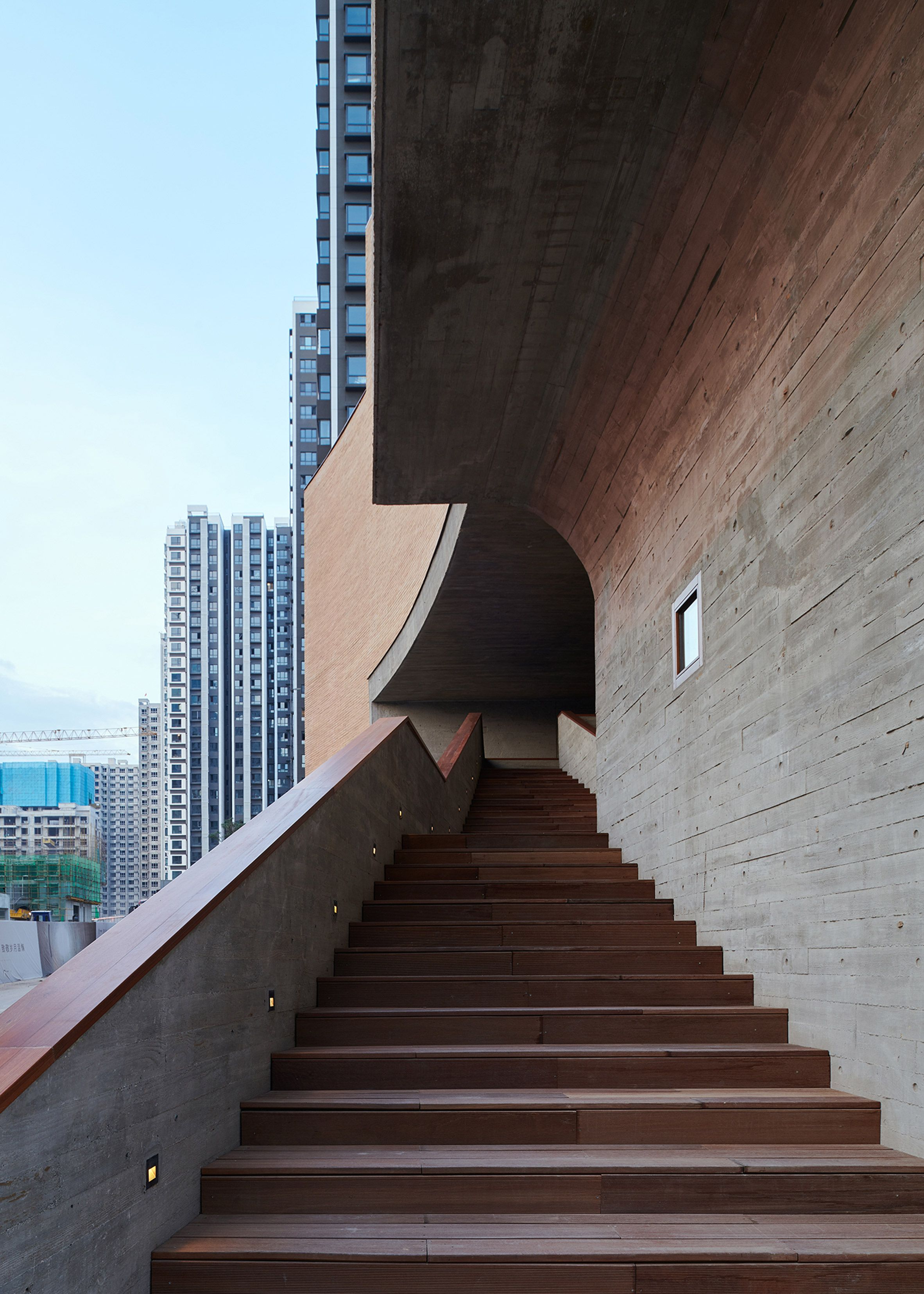 concrete awning Architect, Community space design, Taiyuan