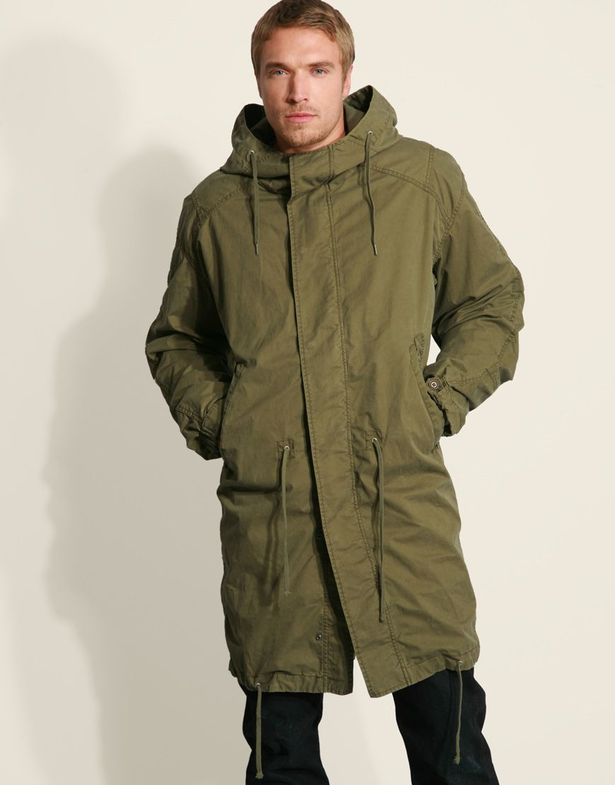 Diesel Wilong Oversized Parka Coat