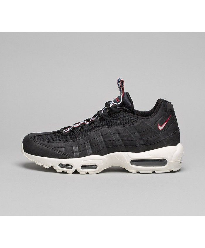 new arrivals e0d57 20673 Nike Air Max 95 Essential  Pull Tab  Chaussures Noir rouge