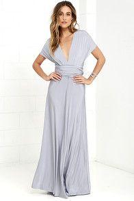 Always Stunning Convertible Light Grey Maxi Dress | Dresses