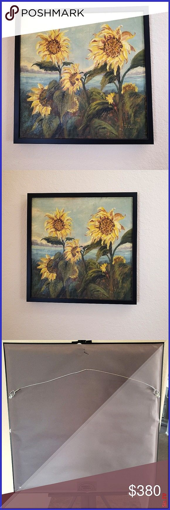 8090 s oil painting 21 25 8243 21 25 8243 Beautiful sunflowers vintage oil painting on canvas Painted by my 86 years old mother many years ago Vintage 8090 s oil painting...