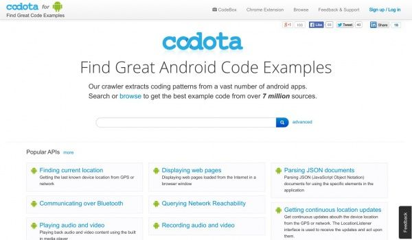 Codota – is a crawler which extracts coding patterns from a