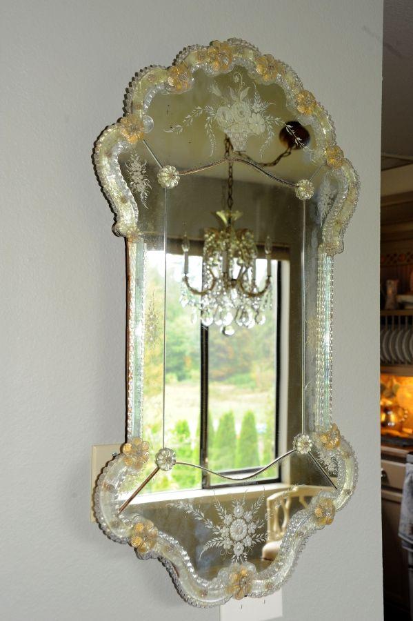Antiguo espejo veneciano espejos venecianos espejos - Espejo veneciano antiguo ...