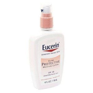 Amazon Com Eucerin Sensitive Facial Skin Moisture Lotion Spf 30 Extra Protec Eucerin Paraben Free Face Moisturizer Skin Moisturizer