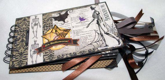 Halloween Tag Envelope Album by RavensCards on Etsy
