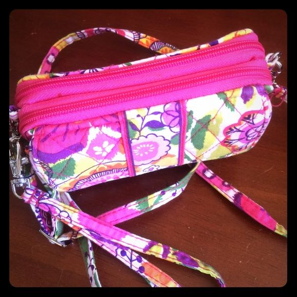 Vera Bradley All-In-One Crossbody Clementine EUC Vera Bradley All-In-One Crossbody in bright and beautiful retired pattern called Clementine! Can be used as a wallet and also includes 2 straps so it can be a wristlet or crossbody bag. So versatile! Plenty of room for cash, ID, credit cards and even a phone! I carried it only once so condition is excellent! Feel free to use Offer button to negotiate! Vera Bradley Bags Crossbody Bags