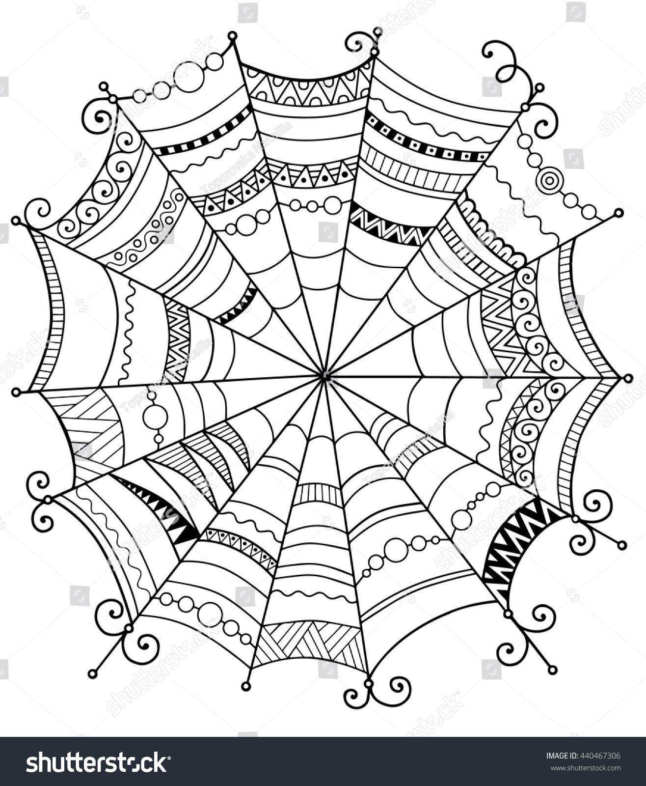 Halloween Vector BackgroundAbstract Web For Textile Design Greeting Cards And Wrapping The Adult ColoringAdult Colouring Pages