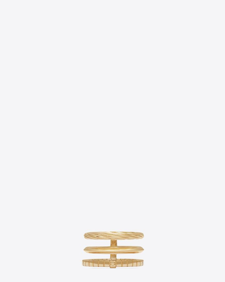 1c12a6d5708d SAINT LAURENT ARMURE PHALANGE RING IN GOLD VERMEIL · Womens Jewelry RingsSilver  ...