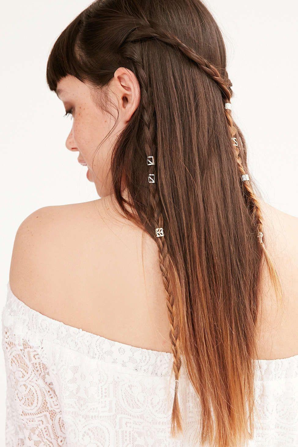 Metal Hair Cuff Set Urban Outfitters Hair Cuffs Metallic Hair Hair