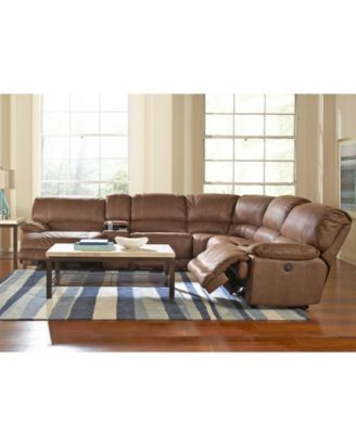 Jedd Fabric 6 Piece Power Reclining Sectional Sofa 2 Power Motion