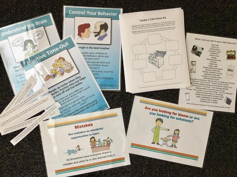 Free Printables to Create a Calm Down Kit for Parents