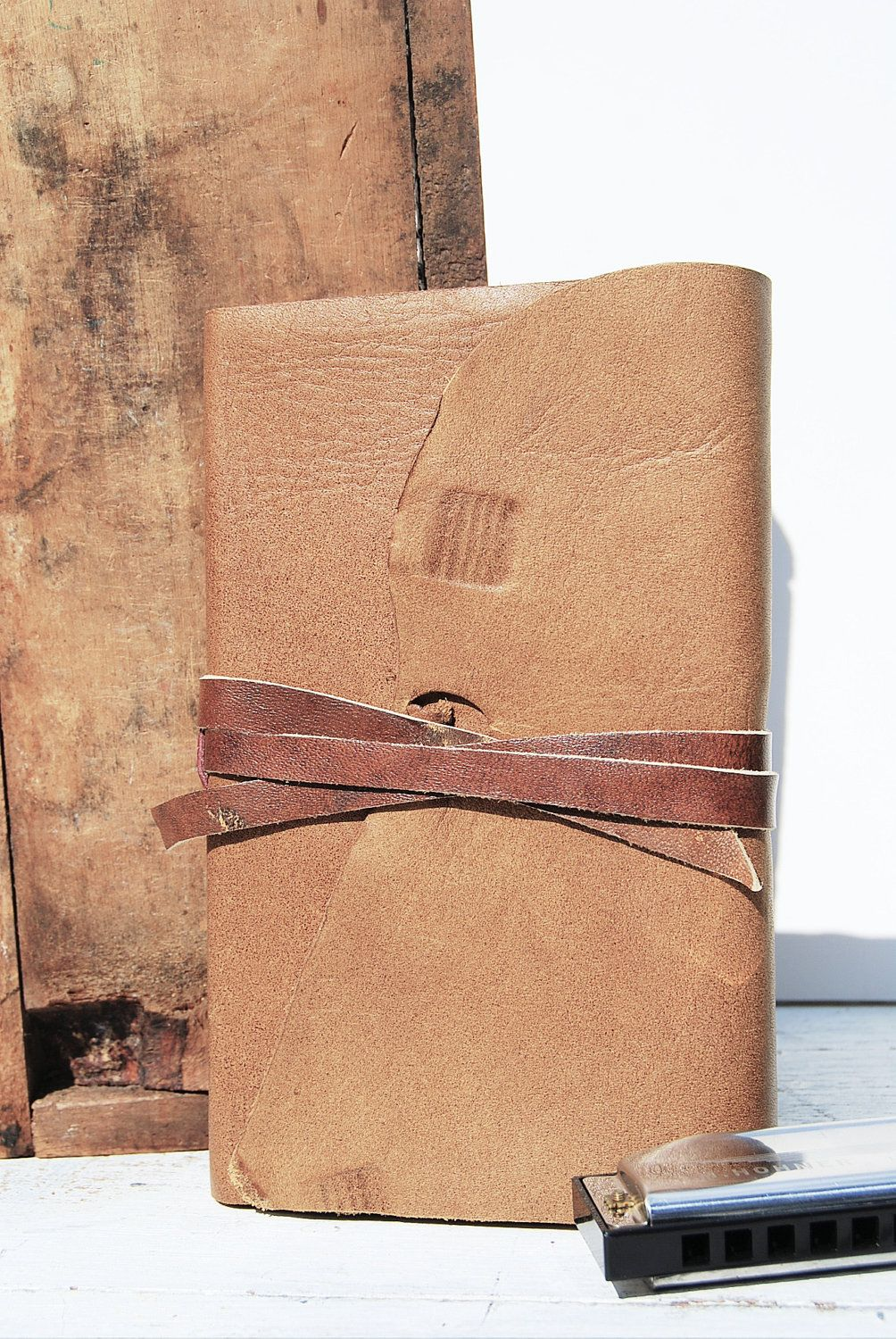 Handmade Leather Journal Personal Notebook Art by NewSouthBooks, $85.00