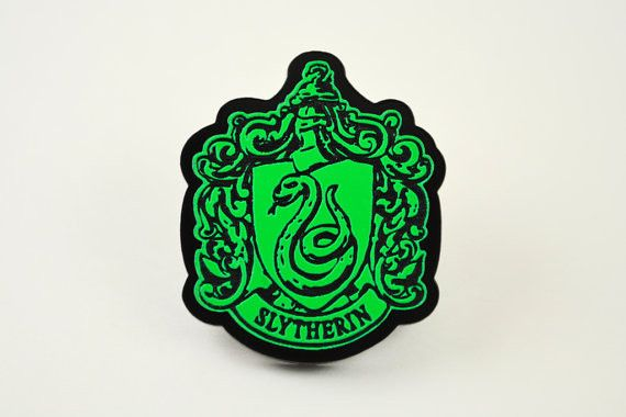 Harry Potter Slytherin House Crest Tie Tack or Bag Pin - Laser Cut and Laser Engraved Acrylic