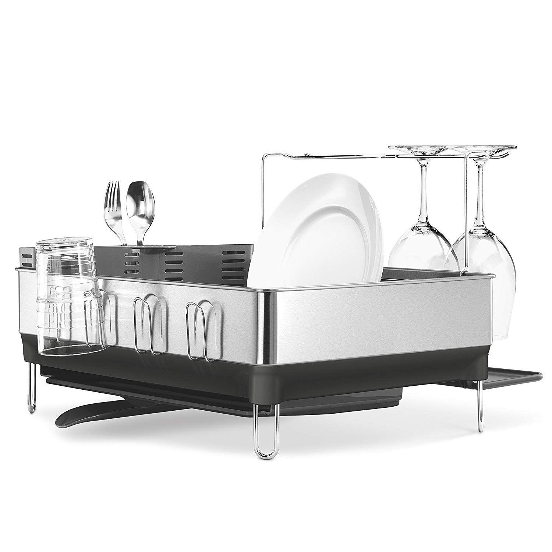 Best Amazon Com Simplehuman Kitchen Steel Frame Dish Rack 400 x 300