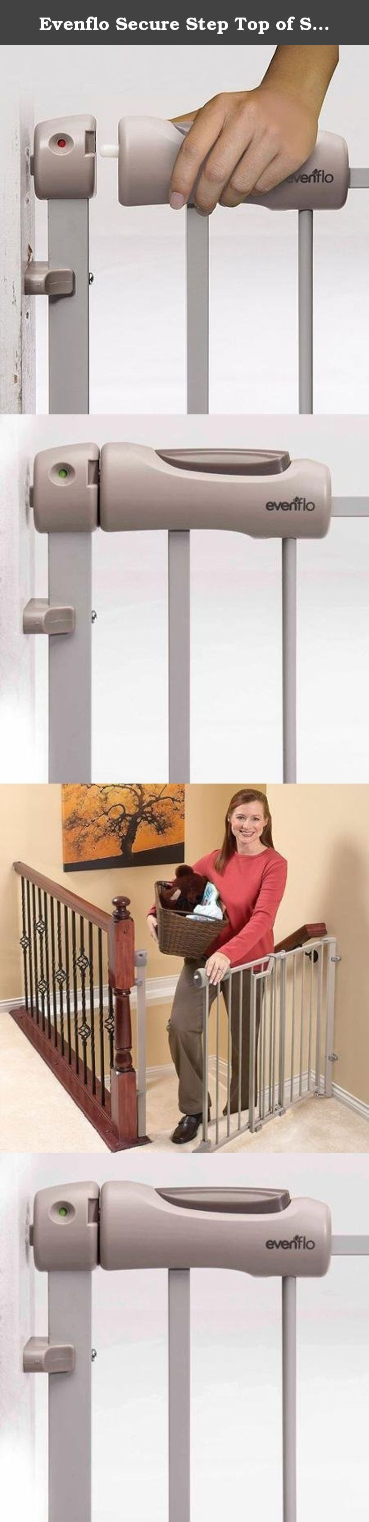 Evenflo Secure Step Top of Stairs Gate, Metal, Brown. The