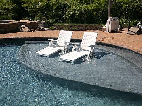 Amazing Pool Shallow Shelf With Umbrella Google Search Outdoor Interior Design Ideas Pimpapslepicentreinfo