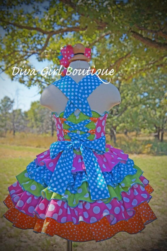 Girls Boutique Birthday Dress Pageant Dress by divagirlboutique
