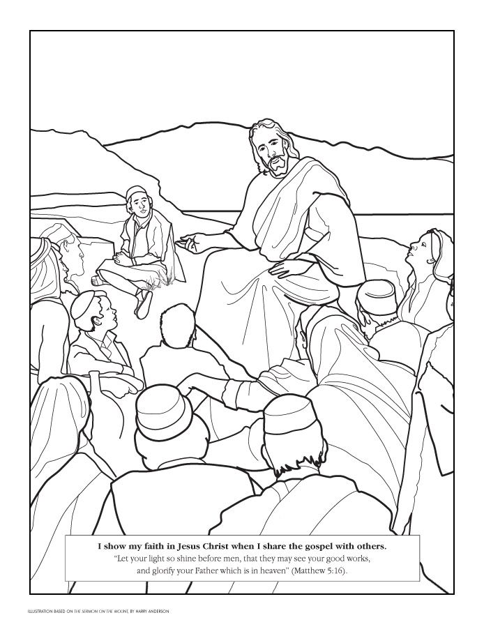 Let Your Light Shine Coloring Page Lds Coloring Pages Jesus