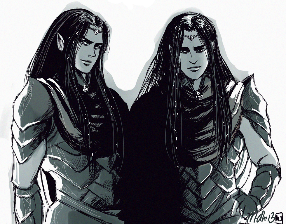 Elladan and Elrohir by MellorianJ.deviantart.com on @deviantART